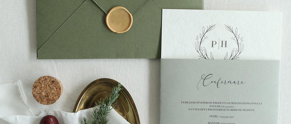 Invitație de nuntă Scarlett cod 20-08