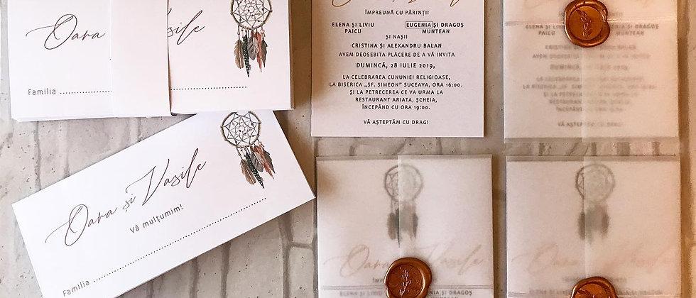 Invitație de nuntă cod 1916