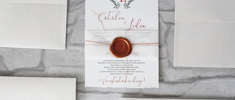 Invitație de nuntă cod 1918