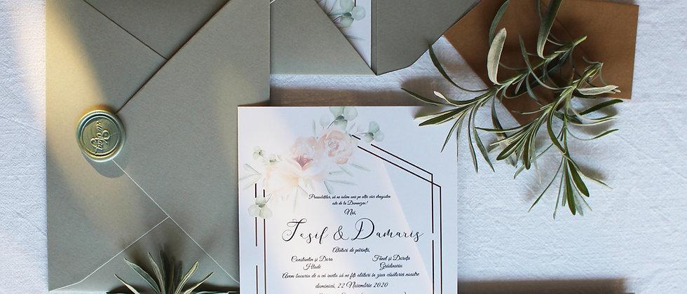 Invitație de nuntă Eucalyptus cod 20-20