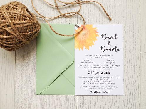 Invitație de nuntă cod 1707