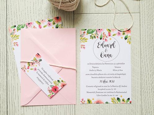 Invitație de nuntă cod 1702