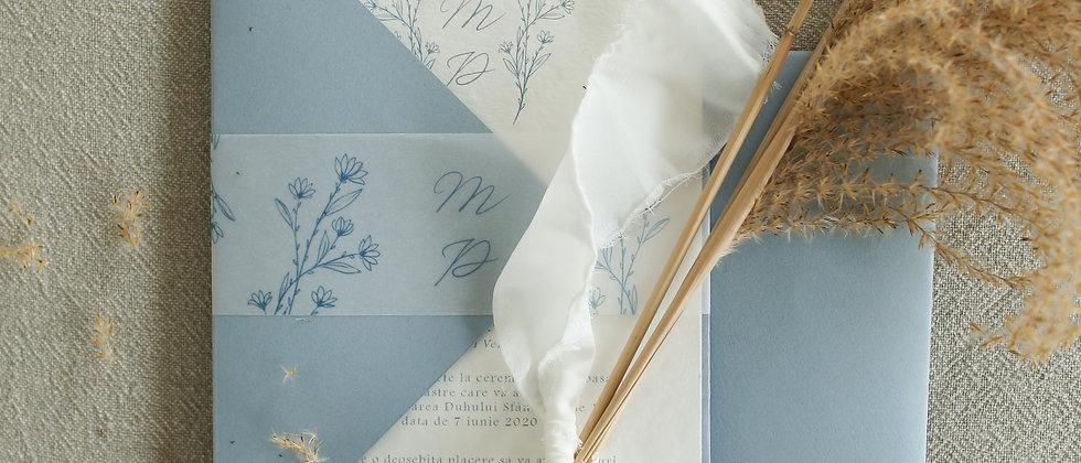 Invitație de nuntă Gisele cod 20-03