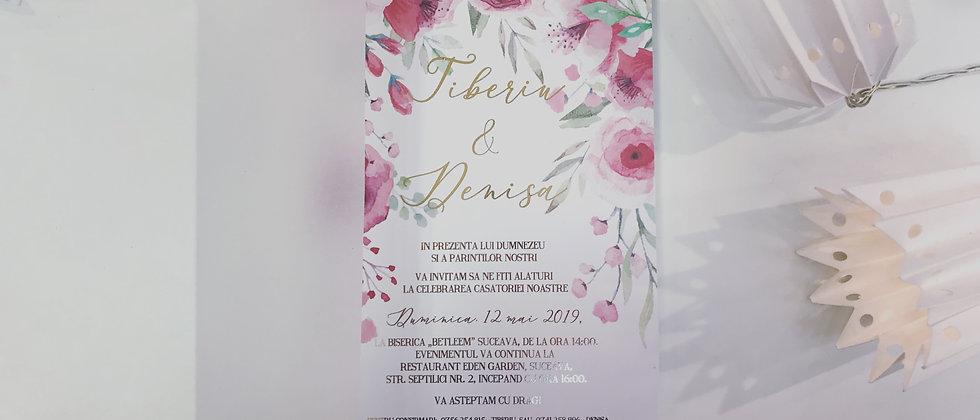Invitație de nuntă cod 1906