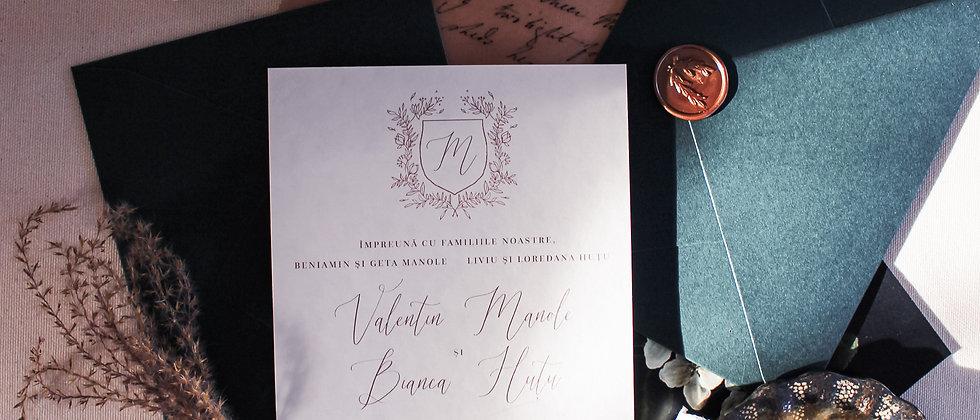 Invitație de nuntă Royal cod 21-01