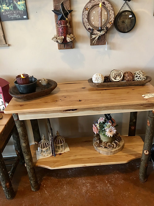 Amish-Made Hickory Sofa Table
