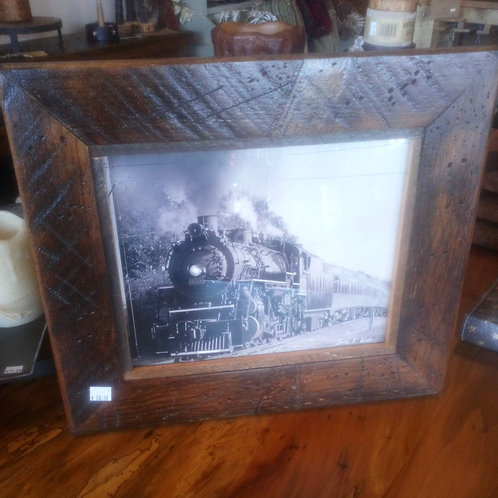Train from BlueRidge, Georgia Picture in Barnwood Frame