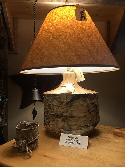 Birch/Oak/Red Cedar Lamps - Handcrafted