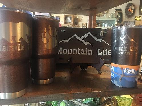 "Arctic Insulated Mugs - ""Mountain Life"" or "" Blairsville, GA"" W/Bear Paw"