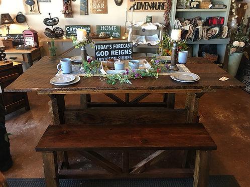 Rustic Barnwood Farm Table