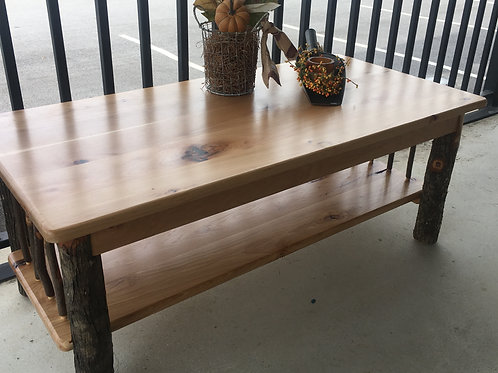 Amish-Made Hickory Coffee Table