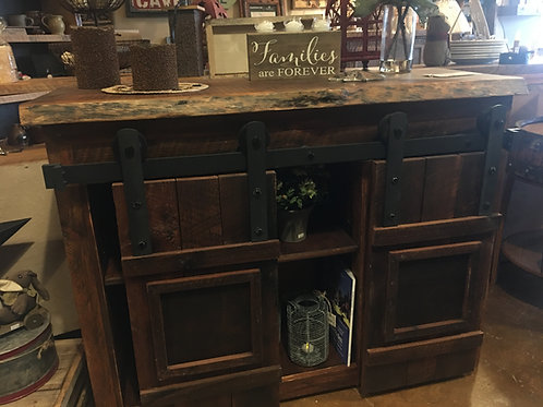 Barnwood TV/Entertainment or Buffet Cabinet W/BarnSliding Doors