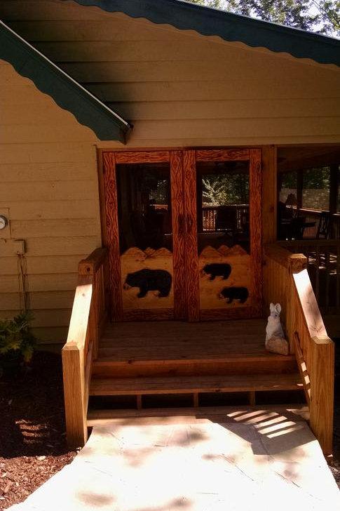 Wood Carved Screen Door - French Doors