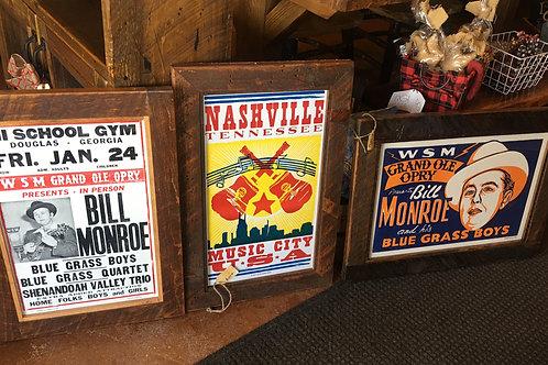Nashville Hatch Show Print Signs