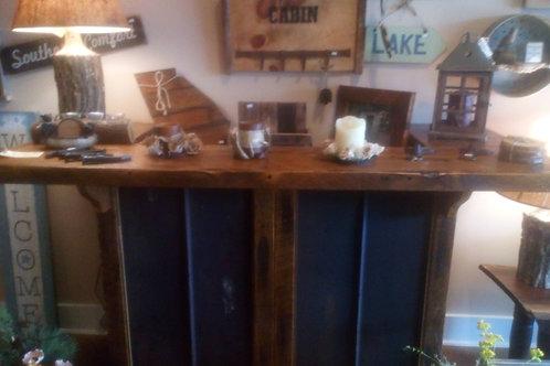 Barnwood Bar w/5V Rusty Metal inserts