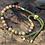 Thumbnail: 18K Gold Plated Gemstone Moss String Bracelet - Picasso Jasper
