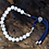 Thumbnail: 925 Silver Plated Gemstone Navy String Bracelet - White Howlite