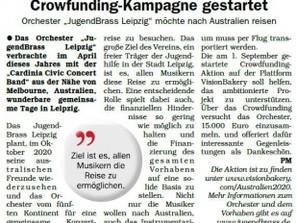 Auch die Leipziger Rundschau berichtet über unsere Pläne