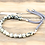 Thumbnail: 925 Silver Plated Gemstone Charcoal String Bracelet - Dalmation Jasper