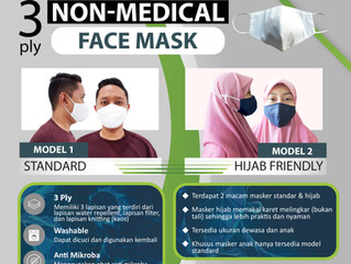 Jual Masker Kain 3 Lapis Murah Bandung