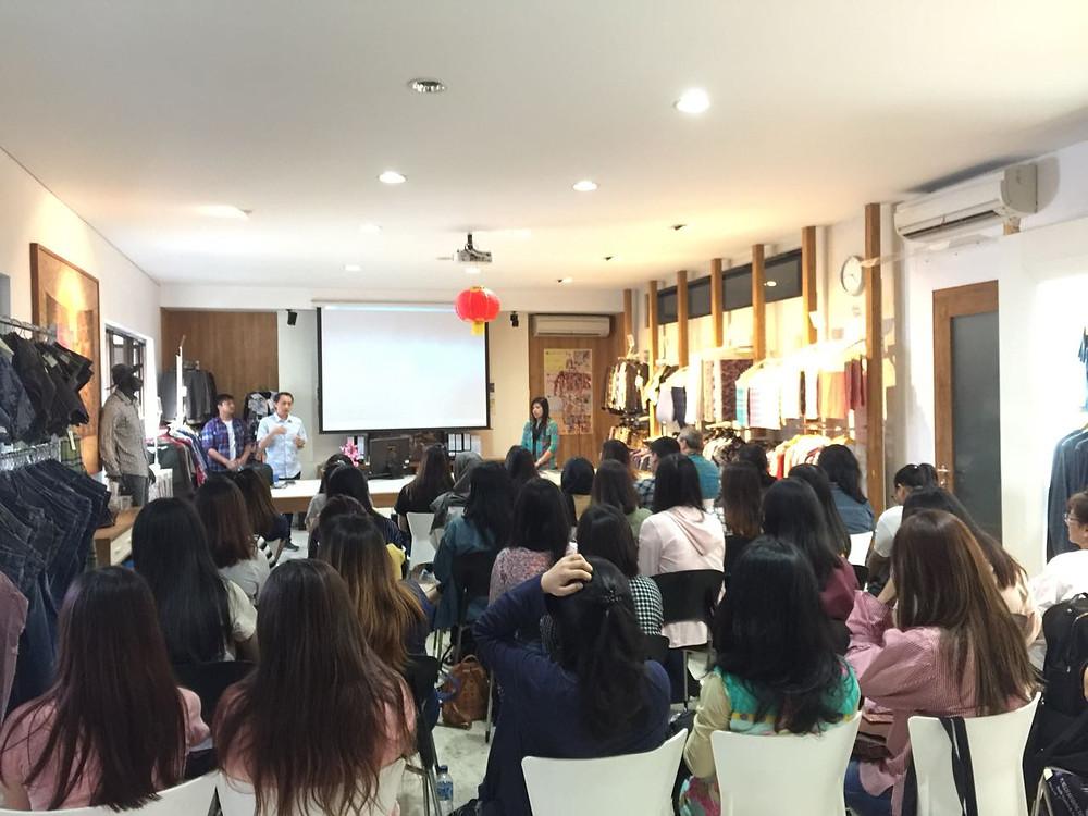 Sambutan dari Bpk. Suradi Hanam Selaku Direktur Marketing PT. Multi Sandang Tamajaya