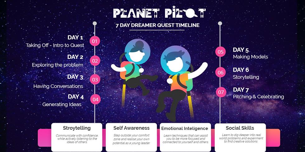 The 7 day 'Dreamers' Quest  (Asia / Australia)