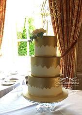 Gold brushed wedding cake 4 with logo.jp