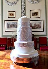 Lilac Embroidery Wedding Cake Brympton 2