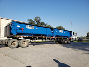 two new 25 cubic yard open top roll-off boxes Hull's Environmental Services