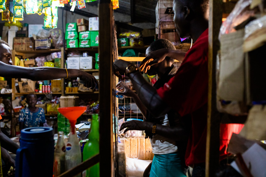 A local shop in Adjumani. The most needed items are soap and rice.