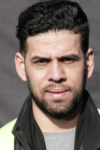 Nazim Al-Hamandi, one of the demos organizators, has been waiting for his asylum for 2,5 years.