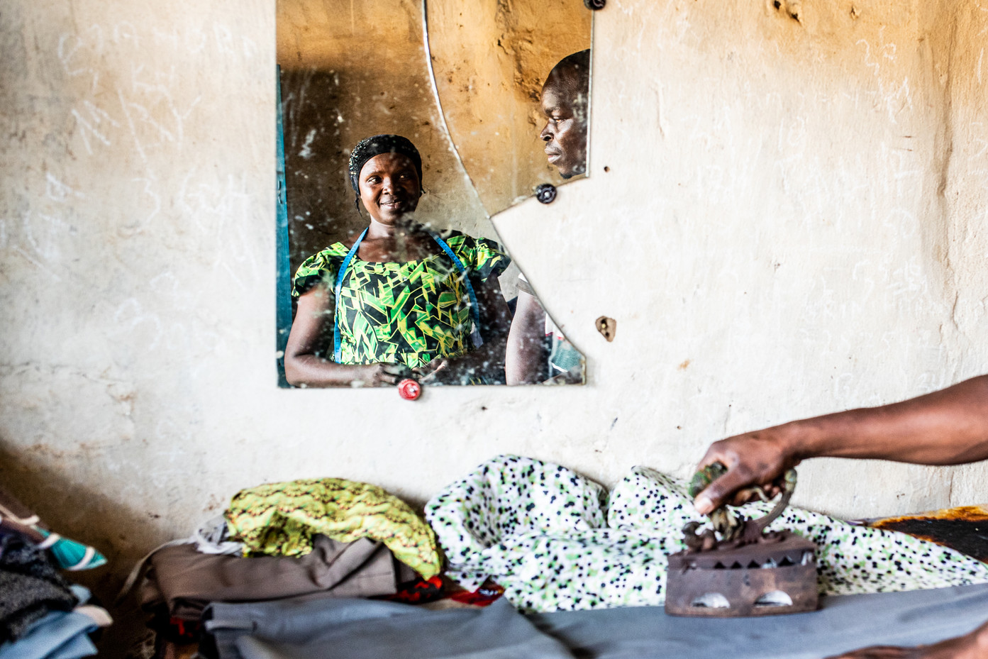 Iramkunda Francine has lived in Nakivale for almost twenty years. She has started her own sewing business.