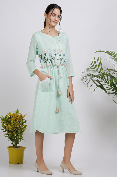 Mint and Blush Dress by Pooja Zaveri