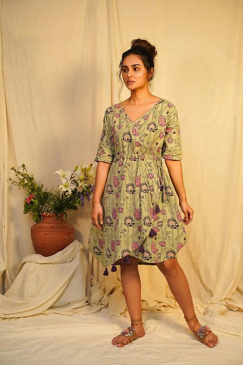 Protea Asymmetric Dress by Vilayaa