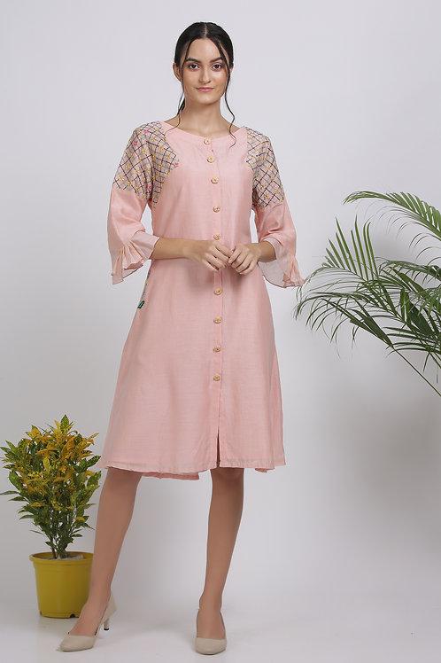Passion Peach Dress by Pooja Zaveri