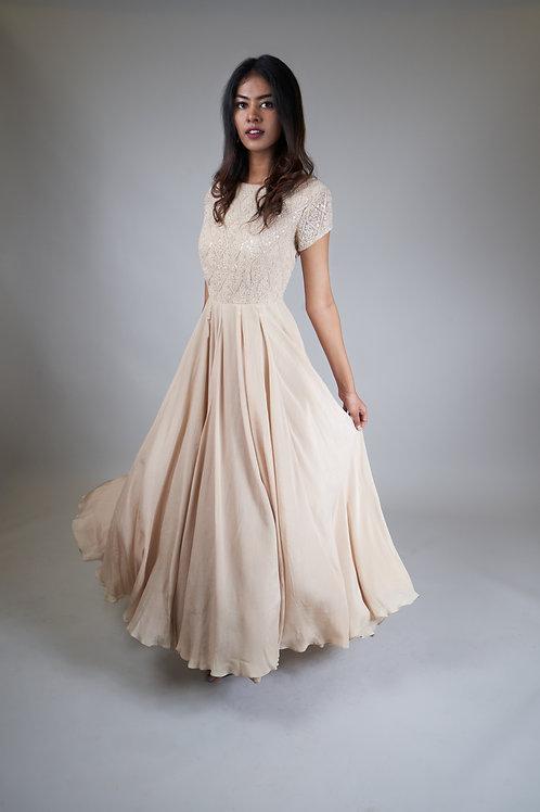 Light Beige Long Gown