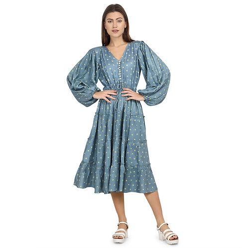 Polka Dot Gypsy Midi Dress by Eesha Gupta