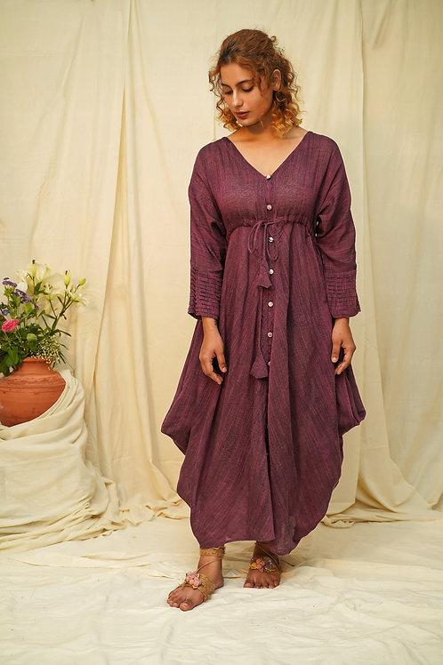 Salvia Cowl Dress