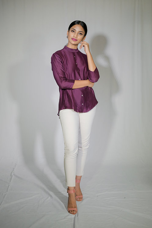 Mulberry Military Blouse