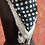 Thumbnail: Bottle Green Polka Dot with Stripes Bordered Scarf
