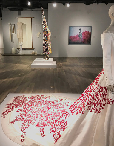 Installation with other artworks, Dress Matters: Clothing as Metaphor, Tucson Museum of Art.