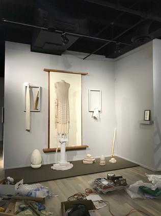 Museum installation in progress.