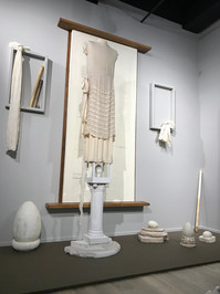 Installation (without lighting), Dress Matters: Clothing as Metaphor, Tucson Museum of Art.
