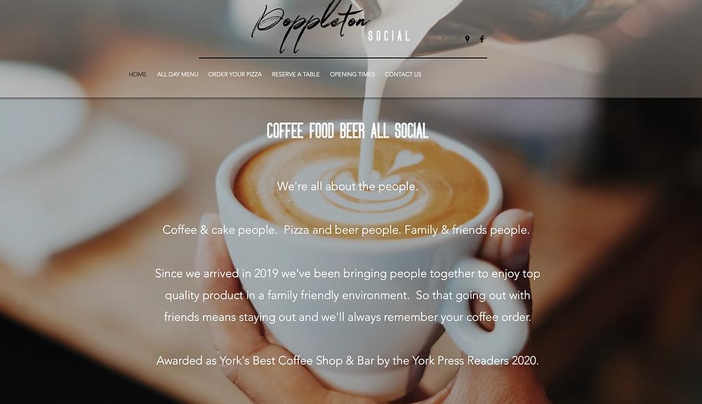 Poppleton Social website homepage