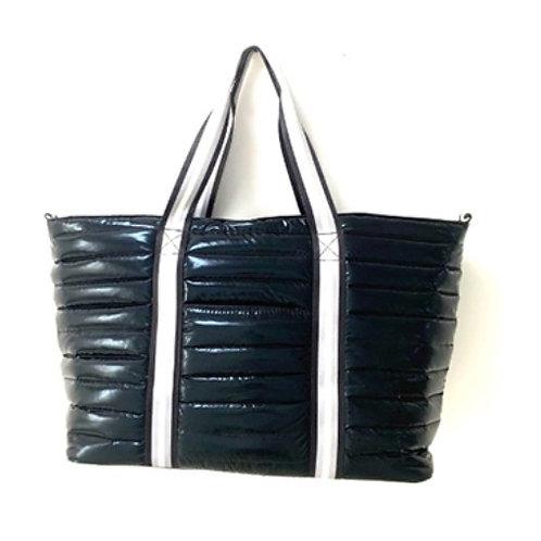 Black Puffer Tote Bag