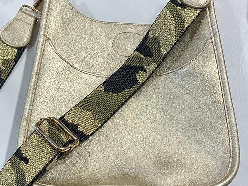 Mini Gold Vegan Leather with Camo Strap