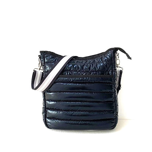 Black Puffer Crossbody Bag