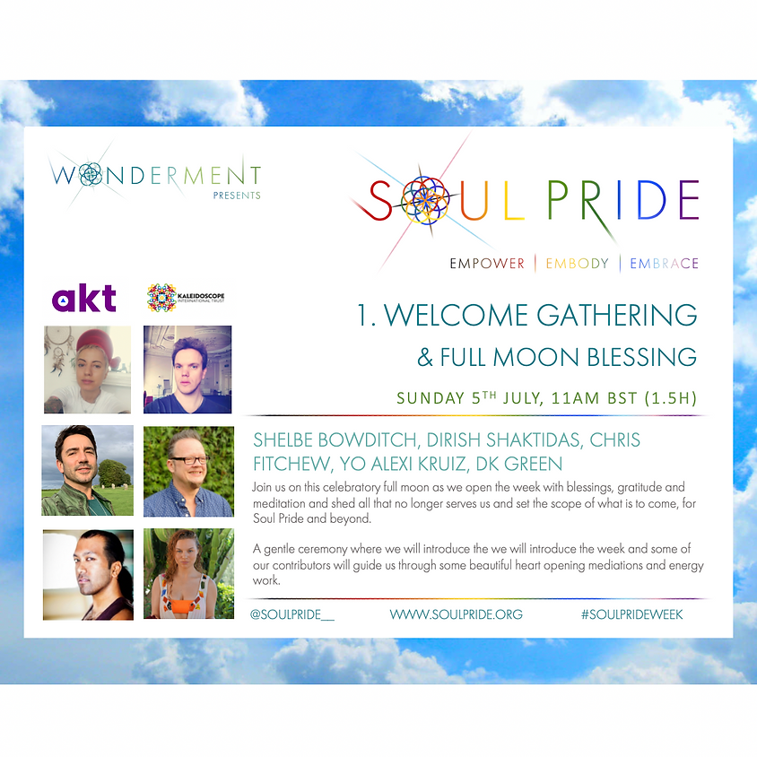 1. WELCOME GATHERING & FULL MOON BLESSING