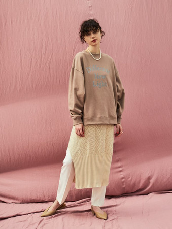 Different New Light sweat¥14,000+tax. crochet knit one piece¥14,000+tax.