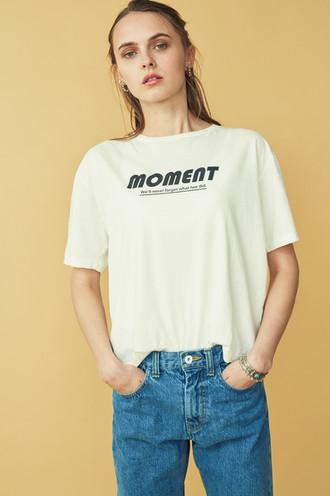 """""""MOMENT"""" PHOTO Tee¥6,500+tax  Denim Pants¥18,500+tax"""